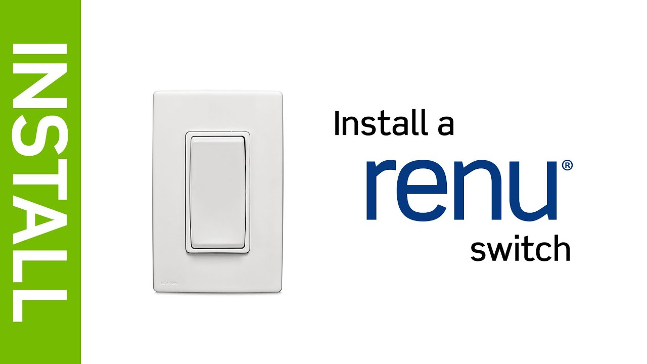 leviton presents how to install a renu light switch youtube. Black Bedroom Furniture Sets. Home Design Ideas