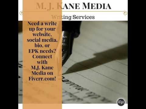 Need a write up for your website, social media, bio, or EPK needs? Connect with M.J. Kane Media on F