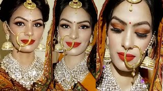 Karwachauth Makeup For Newly Married Girls/ Step By Step Full Bridal Makeup Specially For Krwachauth