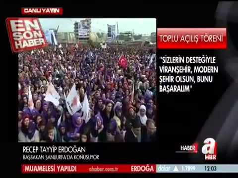 Başbakan Erdoğan'dan Viranşehirlilere kaçak elektrik uyarısı!