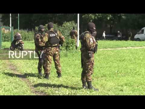 Russia: Security forces guard area around St. Petersburg anti-terror op