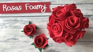 Rosas mini de Foamy Goma Eva  🌹 . Bouquet de Rosas