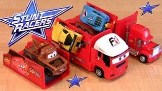 Mack Stunt Racers CARS 2 Sal Mack Truck Hauler Transforming Transporter trucks Pixar Disney car-toys