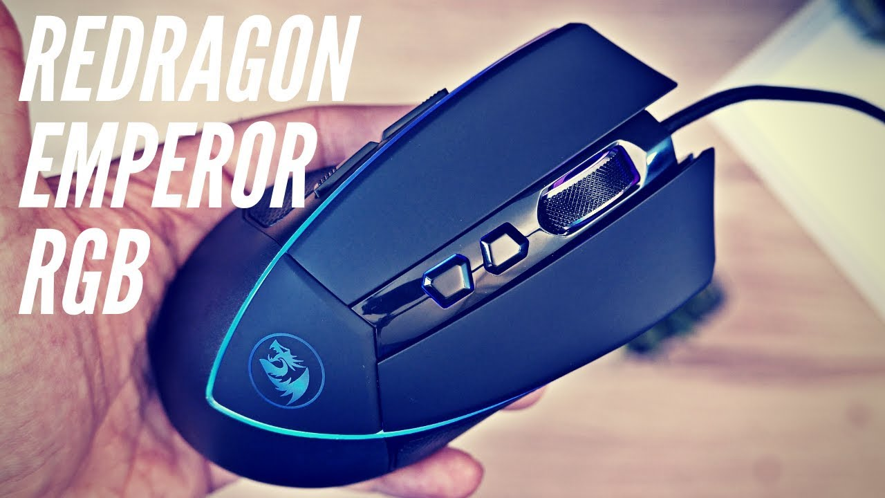9c017d0ece2 REDRAGON EMPEROR M909 RGB GAMING MOUSE UNBOXING 4K - YouTube
