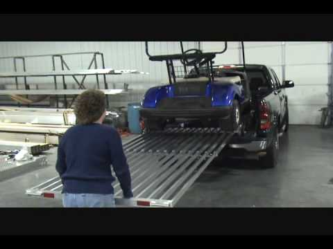 Golf Cart Motorcycle And Utv Loading Ramp For Any Pickup
