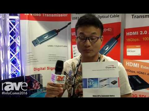 InfoComm 2016: Gigalight Displays Its HDMI 2.0/1.4 Active Optical Cable