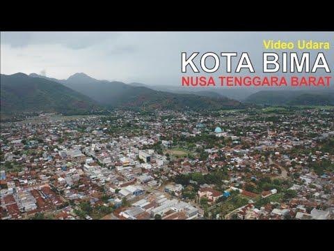 Video Udara Kota Bima di Pulau Sumbawa Nusa Tenggara Barat, Pesona Kota Berbukit