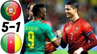 Португалия Камерун 5 1 Обзор Товарищеского Матча 06 03 2014 HD