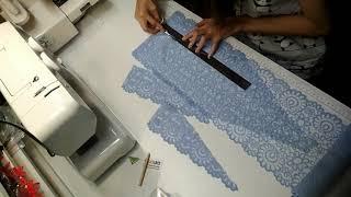 Создание небесного белья своими руками (ускоренная съёмка)