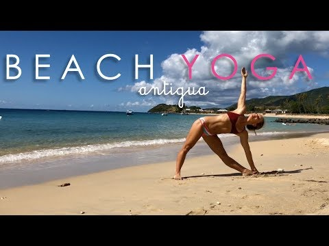 Easy Beach Yoga in Antigua with Kino