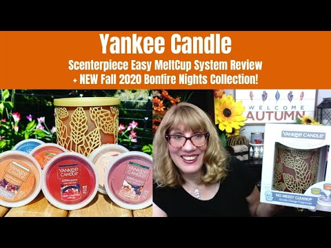 Yankee Candle Scenterpiece Easy MeltCup System Review + NEW Fall 2020 Bonfire Nights Collection!
