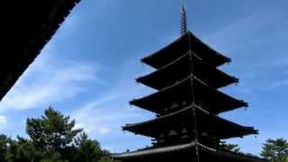 法隆寺の鐘の音 五重塔 horyuji temple nara kyoto 柿食えば