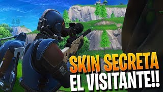 "THE SECRET SKIN ""THE VISITOR"" FORTNITE BATTLE ROYALE ? Rubinho vlc"