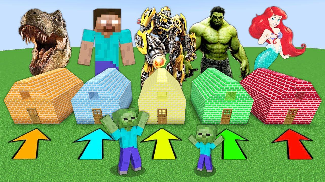 HANGİ GİZLİ EVİ SEÇMELİYİM? 😱 - Minecraft