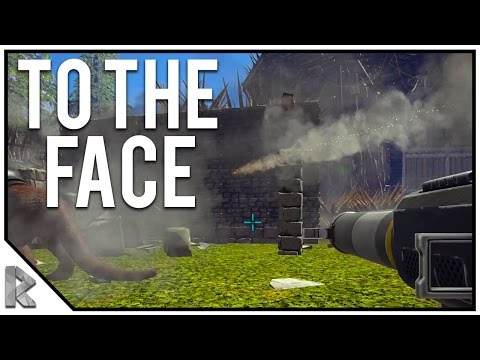 """ROCKET TO THE FACE! - Redwood Raid - Ark Survival Evolved """"The Volcano"""" PVP #26"""