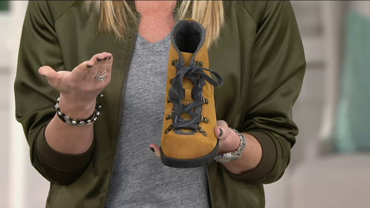 818d52924e1 Clarks Leather Water Resistant Hiking Boots - Faralyn Alpha on QVC
