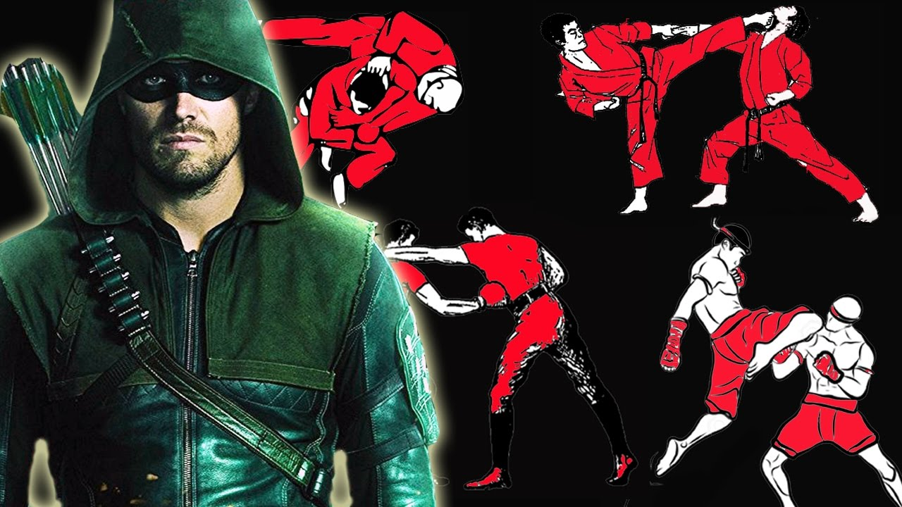 How many fighting styles does Green Arrow know in CW's Arrow?