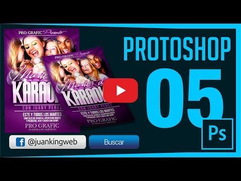 Como Diseñar un Flyer o Volante karaoke en Photoshop Capitulo 5 JuanKING