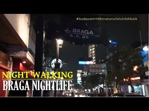 Night Walking ~ Bandung Nightlife ~ Hotel El Royale Jalan Merdeka To Jalan Braga On Saturday Night