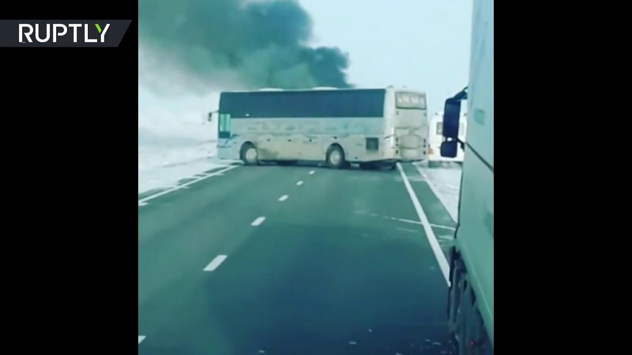 Более 50 человек погибли при возгорании автобуса в Казахстане