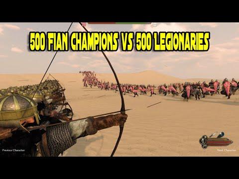 500 Battanian Fian Champions vs 500 Legionaries - Mount & Blade 2: Bannerlord |
