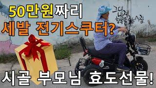 50만원짜리 중고 전기스쿠터, 시골 어르신 필수템!!