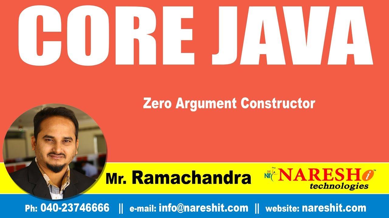 Core Java Tutorial   Zero Argument Constructor   Mr