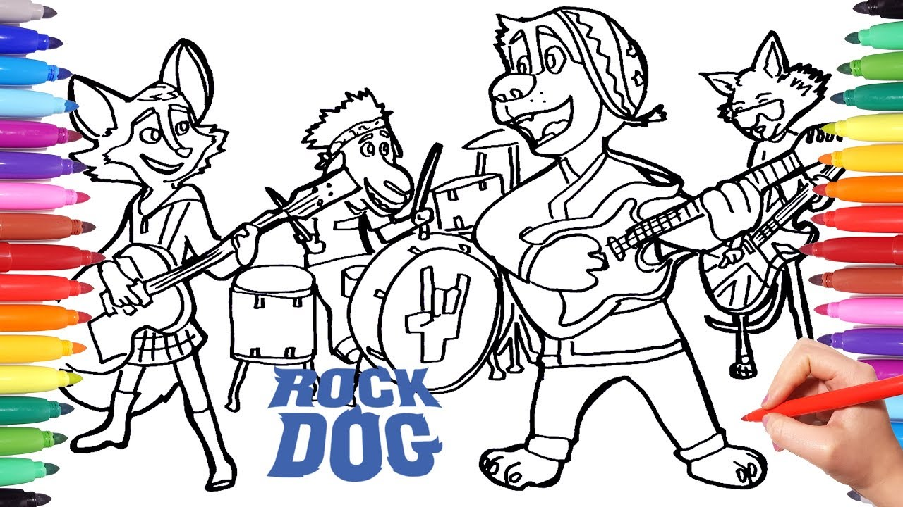 ROCK DOG Coloring Pages for Kids | Drawing and Coloring Rock Dog ...