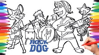 ROCK DOG Coloring Pages for Kids | Drawing and Coloring Rock Dog Bodi Angus Darma Germur