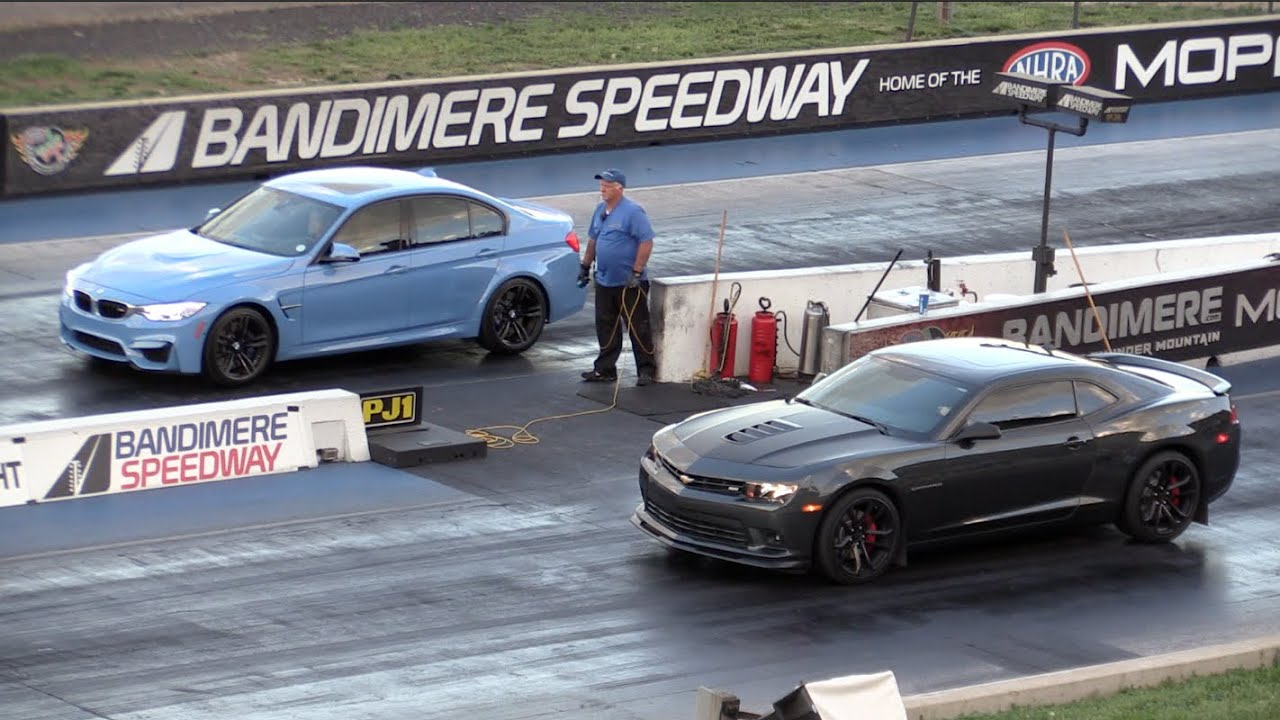 2015 bmw m3 sedan vs 2014 camaro ss - youtube