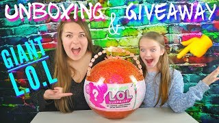 LOL SURPRISE GIANT BALL Big & Lil Sisters Baby Dolls UNBOXING Limited Edition + GIVEAWAY