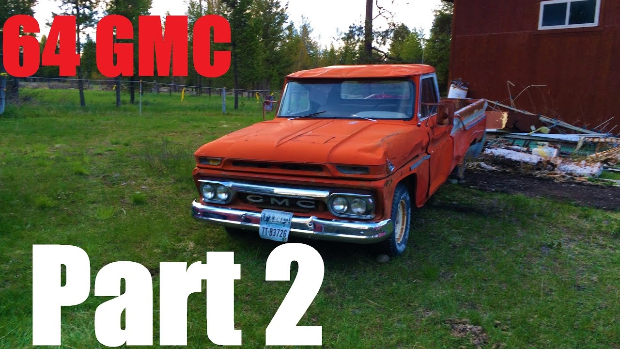 First Start In 15 Years  1964 Gmc Custom Cab Pickup 305 V6