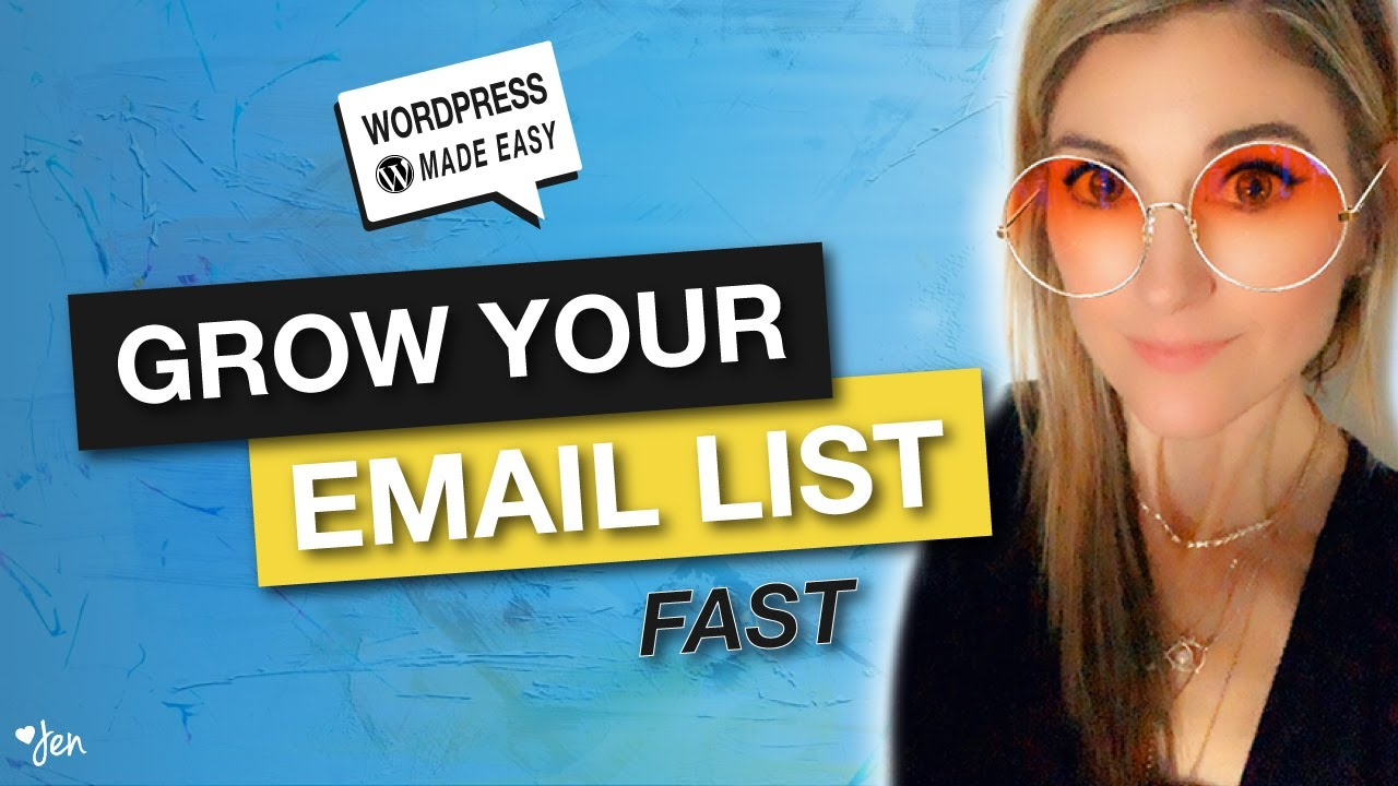 How to create a free resource library in WordPress to grow your email list fast! | Jennifer-Franklin.com