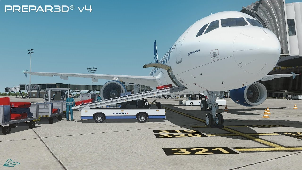 Prepar3D v4 5 | Paris to Algiers | LFPO-DAAG | FSLabs A320-X | P3D