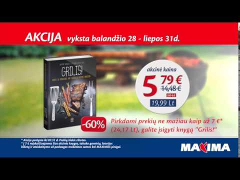 Knyga GRILIS! net -60 % PIGIAU tik parduotuvėse MAXIMA