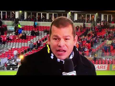 Alejandro Moreno's Halftime Comments disputing Don Garber MLS Cup 2017