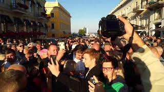 Одесситы очень обрадовались Саакашвили