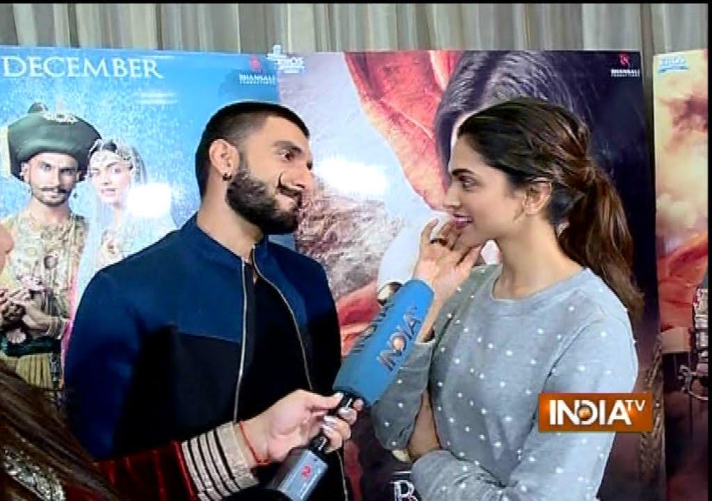 Bajirao Mastani: Deepika Padukone and Ranveer Singh Exclusive Interview