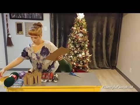 DIY Christmas Tree Advent Calendar- Toilet Paper Rolls