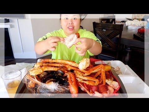 MUKBANG SEAFOOD BOIL! 먹방 (EATING SHOW!) JOE'S CRAB SHACK!