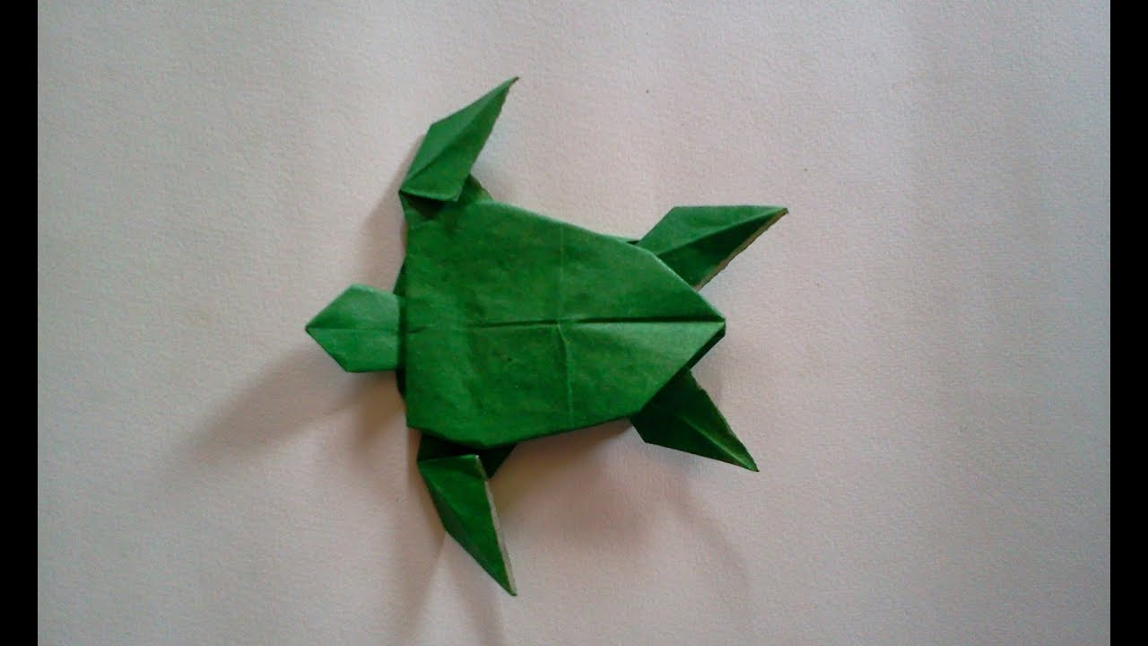 Easy Dollar Origami Turtle