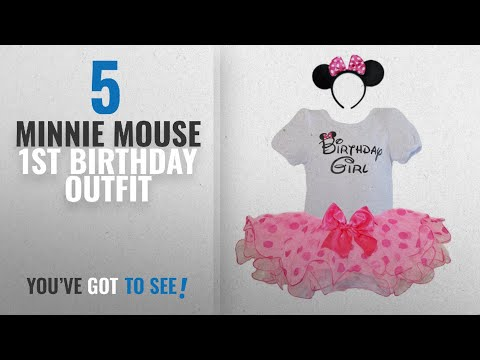 Top 10 Minnie Mouse 1St Birthday Outfit [2018]: Birthday Girl T-Shirt with Polka Dot Tutu and