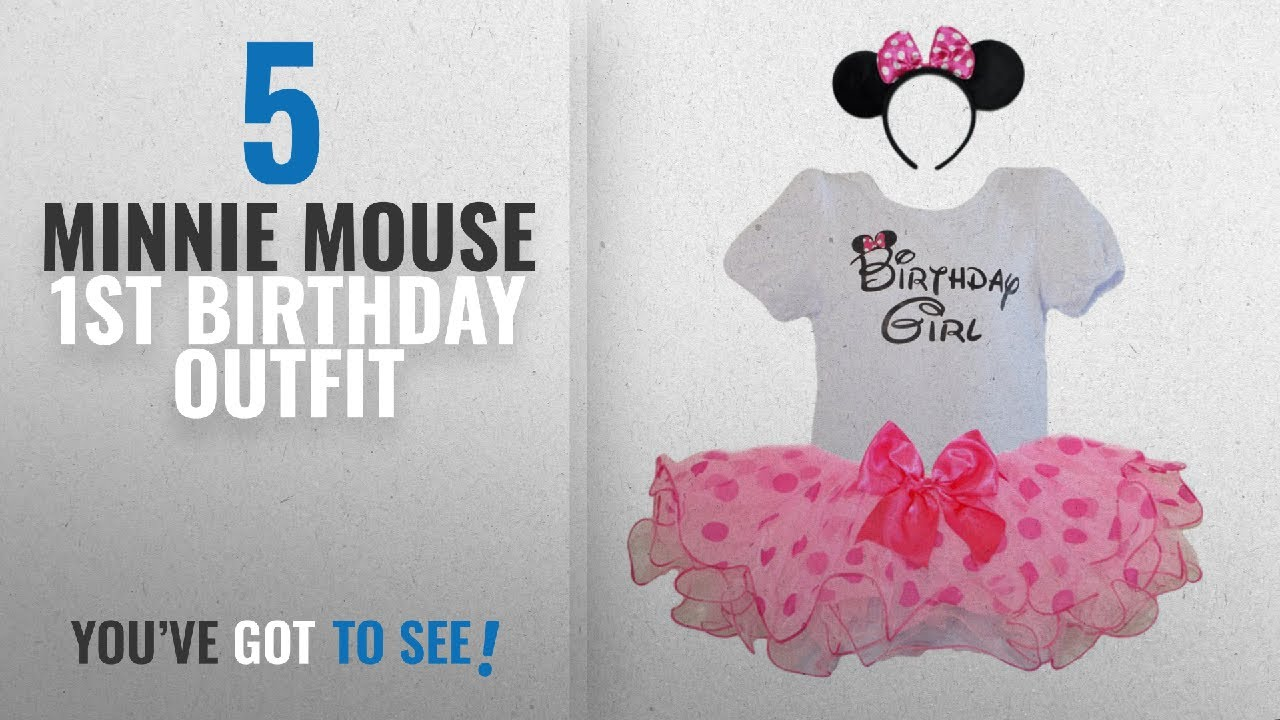 490e0e38a25fe Top 10 Minnie Mouse 1St Birthday Outfit [2018]: Birthday Girl T ...