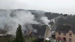 Gebäudebrand in Maring-Noviand