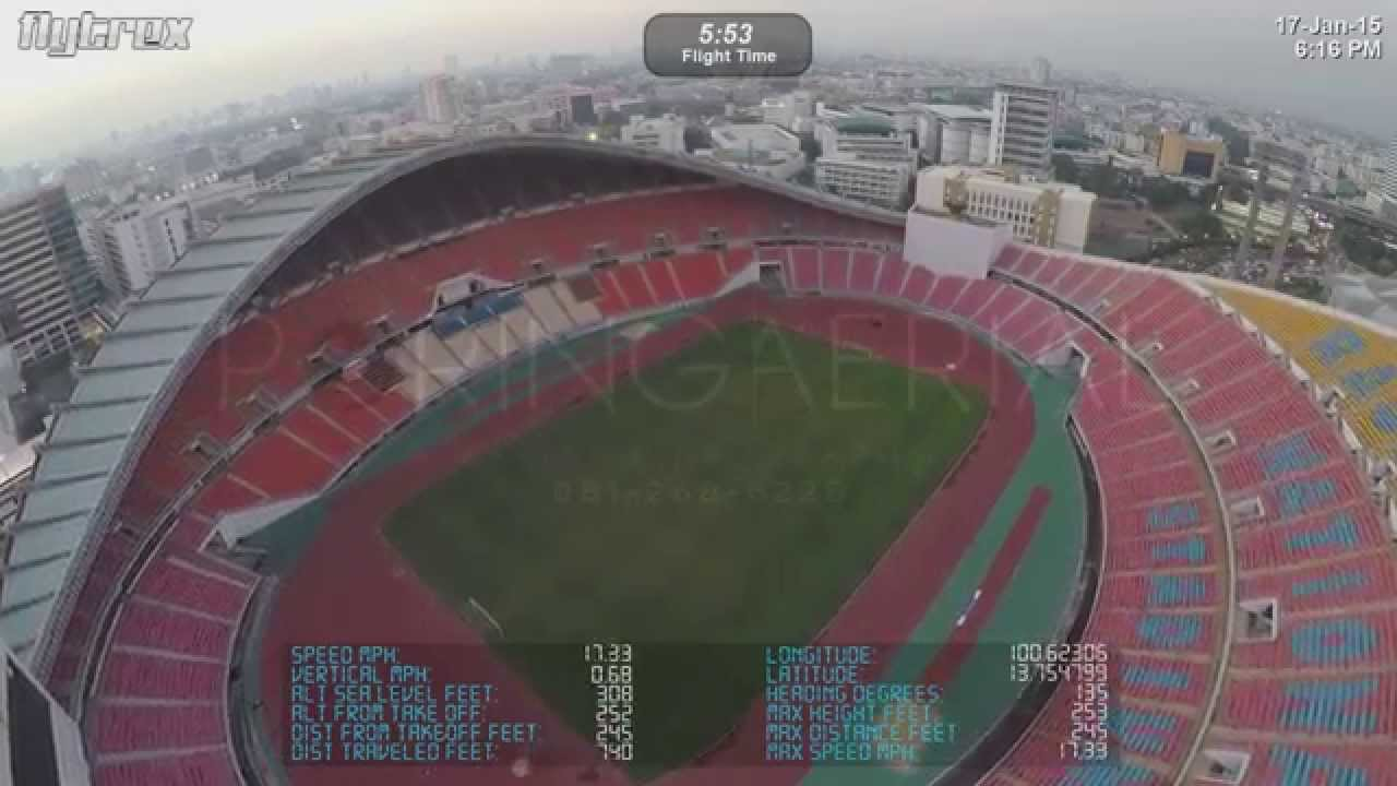 Test Flytrex Flight Record Rajamangala National Stadium Bangkok Thailand Youtube