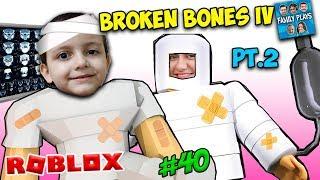 Roblox BREAKING BONES WITH MOM FAMILY (Broken Bones IV Pt. 2) Family Plays