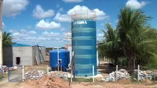 Valdo Lemos diretor do SAAE de Limoeiro, inspeciona construção da Estação de Tratamento no Bixopá