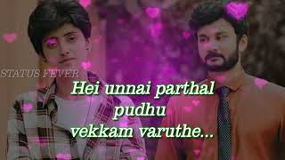Sathiya serial song| Zee tamil| whatsapp status lyrics vedio|😍😍😍😍😍😍