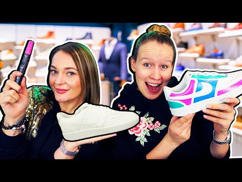 WIR DESIGNEN UNS ORIGINAL NIKE SCHUHE! Customize Sneakers Mit Kathi & Bianca: Wer Hat Coolsten Look?
