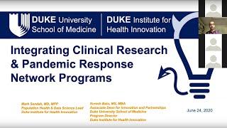 Mark sendak, md, mpp population health and data science lead duke institute for innovation suresh balu, ms, mba associate dean part...